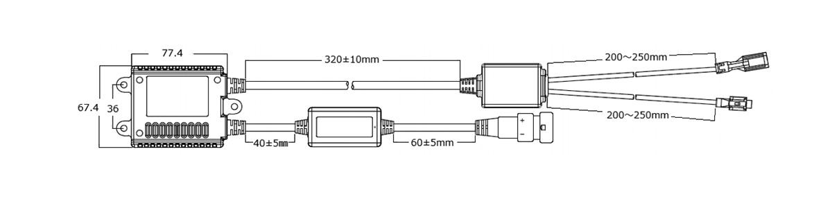 GT240キャンセラーバラストサイズ