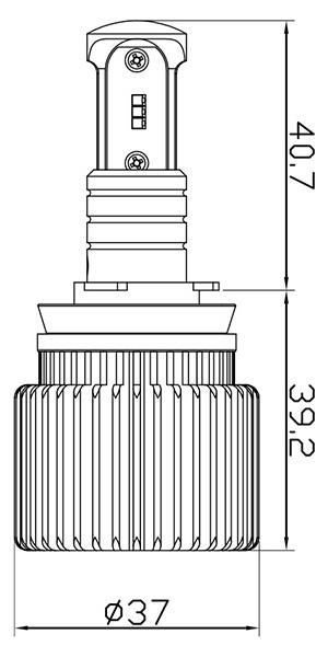 LEDデュアルフォグサイズ