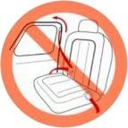 ドアから出ているシートベルト